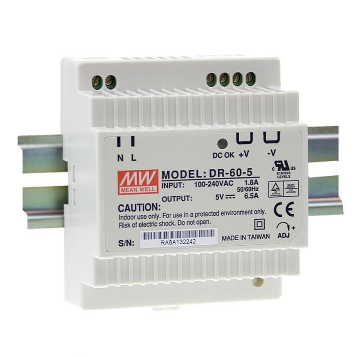 MeanWell DR-60-15 60W 15V 4A Hutschienen Netzteil DIN-RAIL