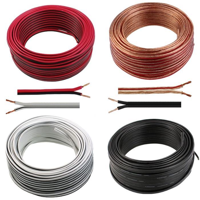 Lautsprecherkabel 50m - 2x0,5mm² - 100% CCA Kupfer ; Audiokabel