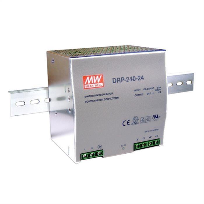 MeanWell DRP-240-24 240W 24V 10A Hutschienen Netzteil DIN-RAIL