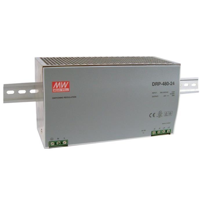 Hutschienen Netzteil 480W 48V 10A ; MeanWell, DRP-480-48 ; Hutschienennetzteil