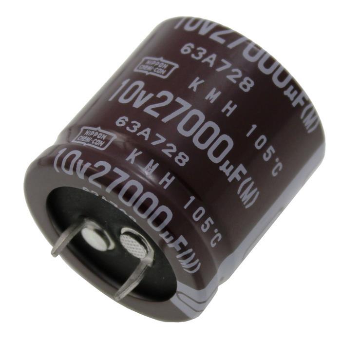 Snap-In Elko Kondensator Radial 27000µF 10V 105°C EKMH100VNN273MR30S d30x30mm 27000uF