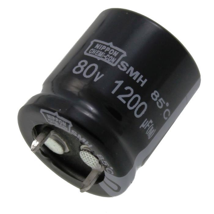 Snap-In Elko Kondensator 1200µF 80V 85°C ESMH800VSN122MP25S ; 1200uF