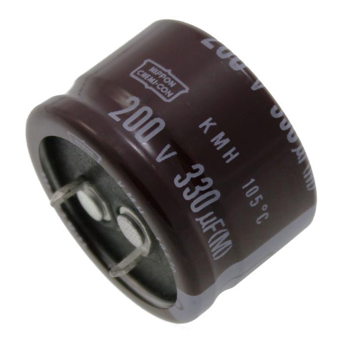 Snap-In Elko Kondensator 330µF 200V 105°C EKMH201VSN331MR20S ; 330uF