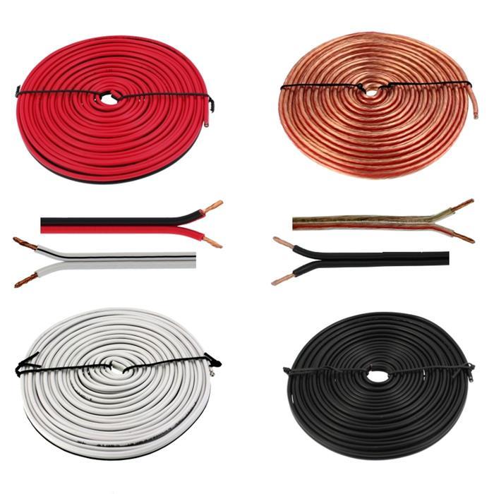 Lautsprecherkabel 5m - 2x1,5mm² - 100% CCA Kupfer ; Audiokabel