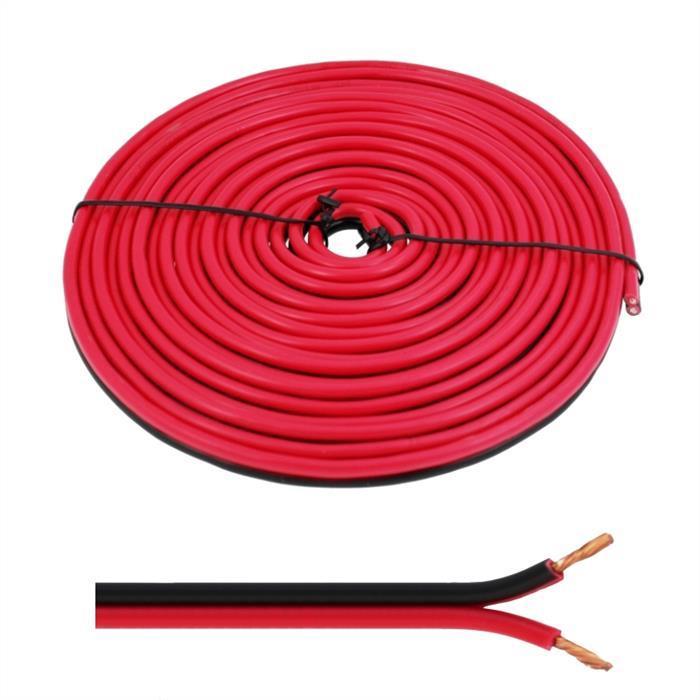 Lautsprecherkabel 5m - 2x4mm² - 100% CCA Kupfer ; Audiokabel - rot/schwarz