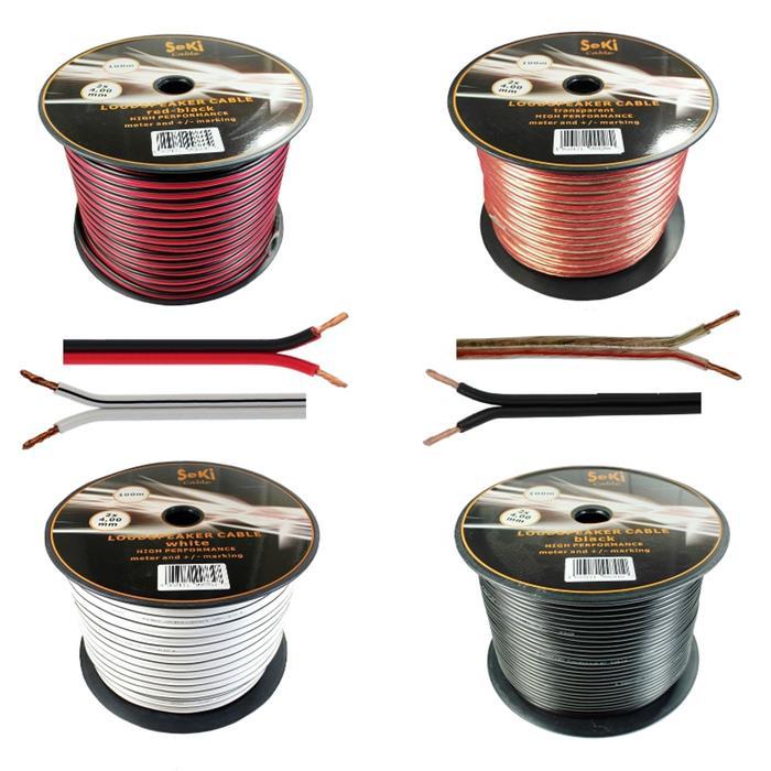 Lautsprecherkabel 100m - 2x4mm² - 100% CCA Kupfer ; Audiokabel