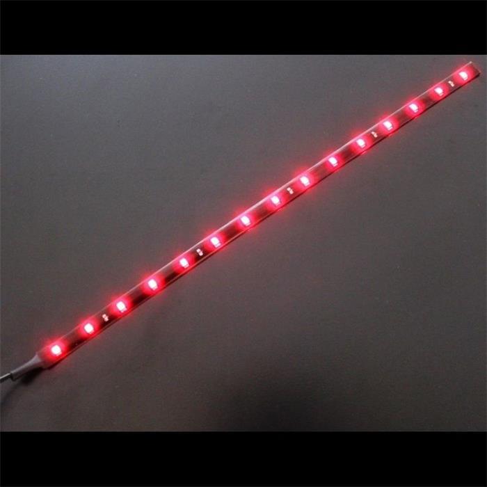 0,3m (30cm) LED Streifen Band Leiste 12V Rot IP65 18LEDs 60LED/m SMD3528