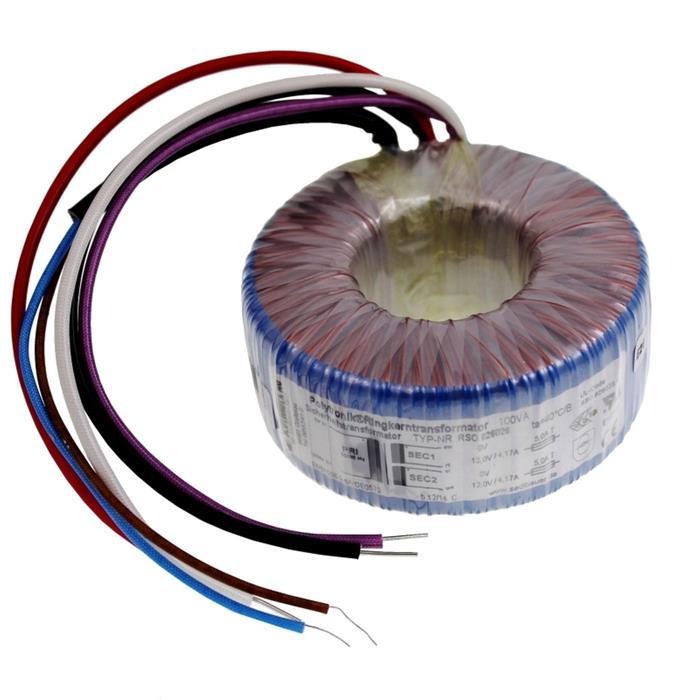 Ringkerntrafo 100VA 230V -> 2x9V 1x18V , Sedlbauer. RSO-826025
