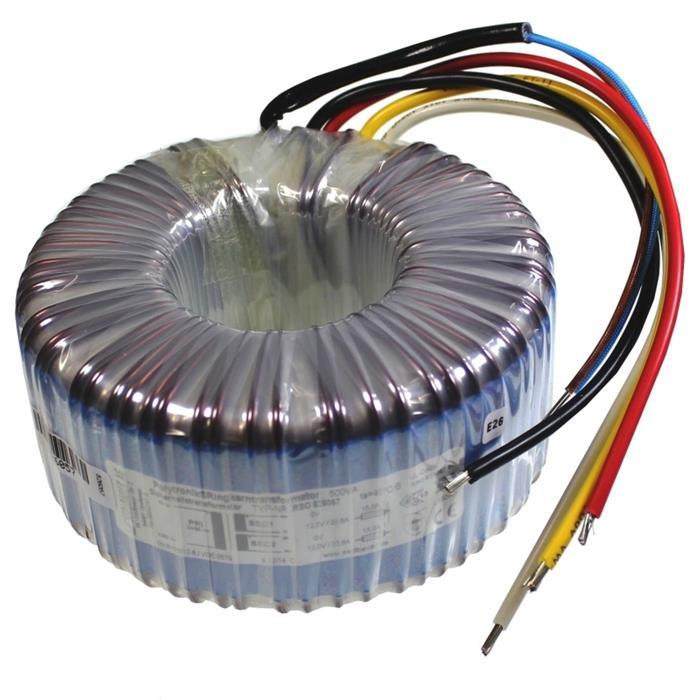 Ringkerntrafo 500VA 230V -> 2x115V 1x230V , Sedlbauer. RTO-826061