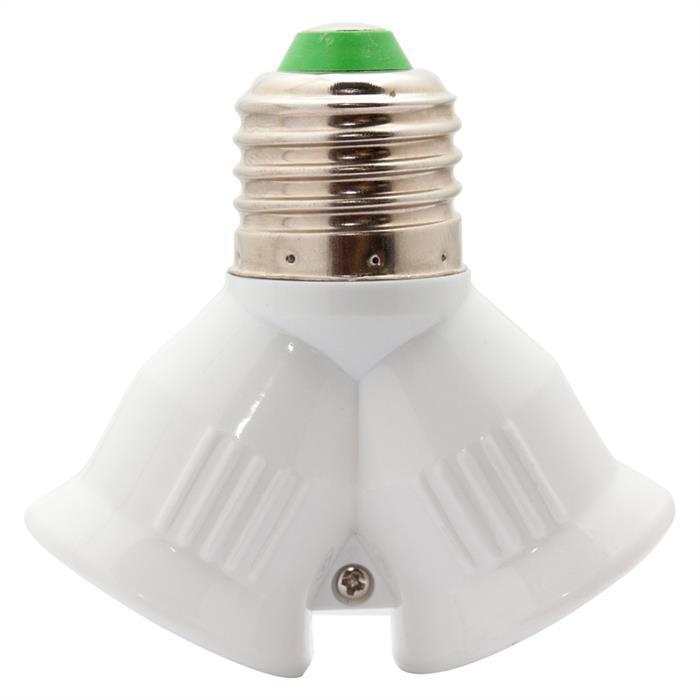 LED Lampensockel Adapter E27 auf 2xE27 Fassung Konverter