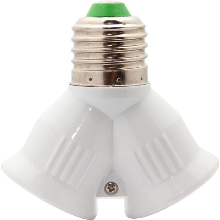 E27 -> 2x E27 LED Lampensockel Adapter Fassung Konverter Lampe