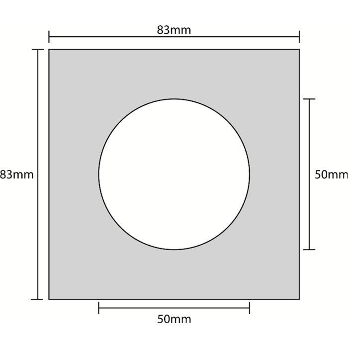 Einbaurahmen für LED Spotlights - Eckig / Alu