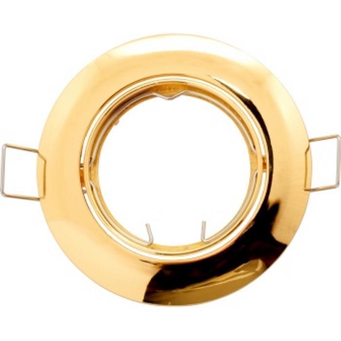 Einbaurahmen Quadratisch 80x80mm Gold für LED Spotlights GU10 MR16