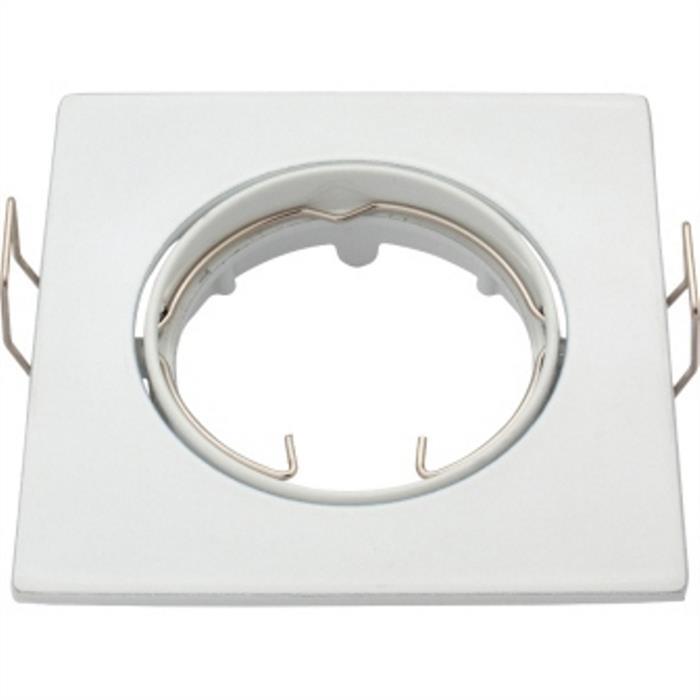 Einbaurahmen rund 80mm Weiß für LED Spotlights GU10 MR16