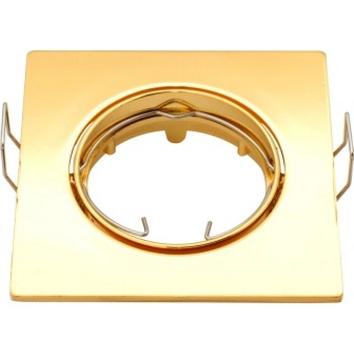 Einbaurahmen rund 80mm Gold für LED Spotlights GU10 MR16