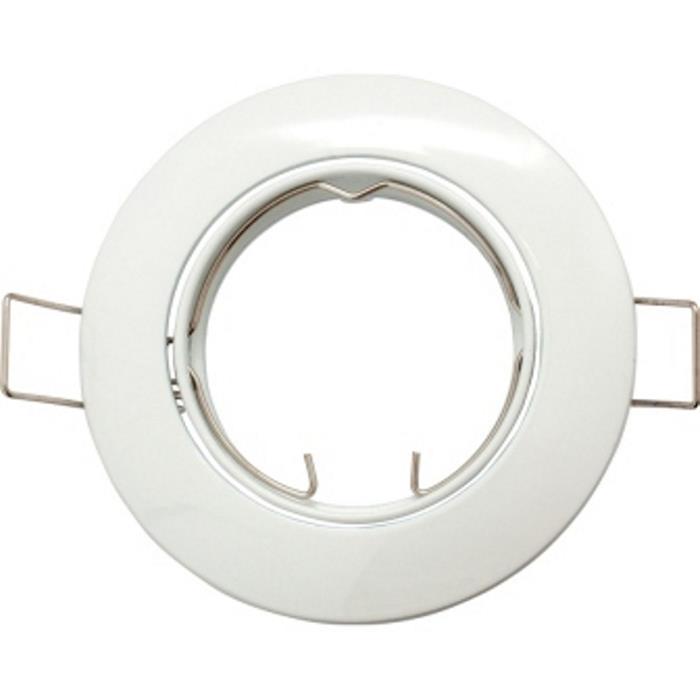 Einbaurahmen Quadratisch 80x80mm Weiß für LED Spotlights GU10 MR16
