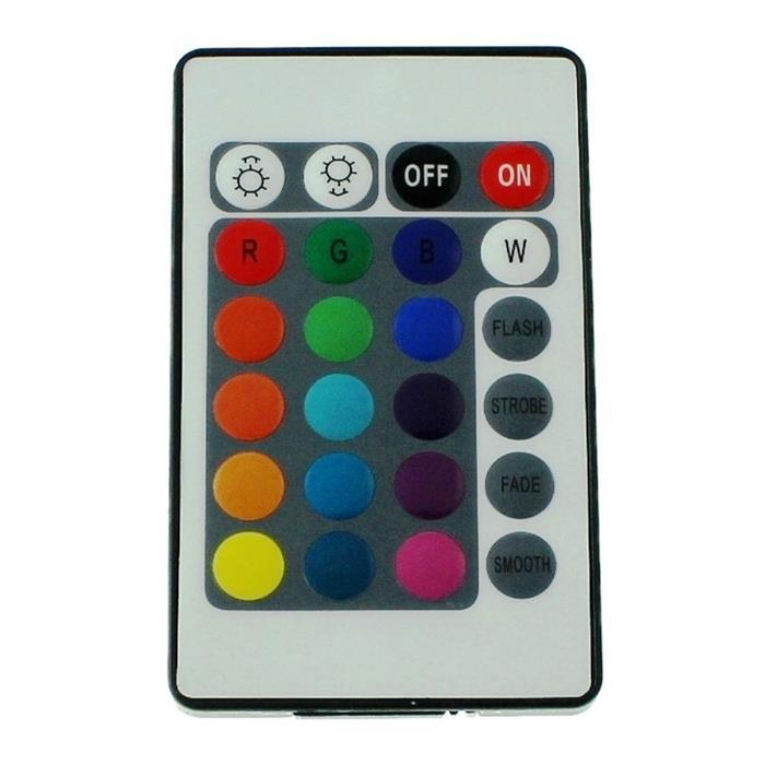 RGB LED IR Controller Remote Steuerung + 24Key Fernbedienung 72W 12V 6A