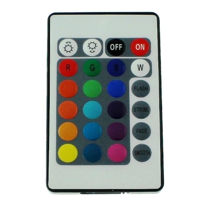 RGB LED IR Controller Remote Steuerung + 24Key Fernbedienung 12...24V 12A