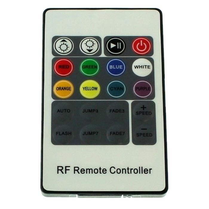 RGB LED RF 20Key Controller 12...24V 144W für Farbwechsel Streifen 4-Pin