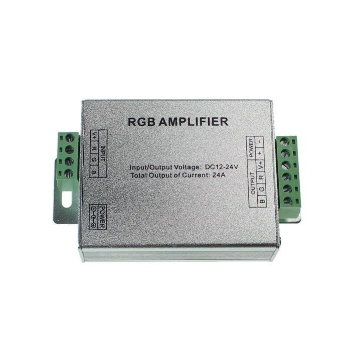 RGB LED Signalverstärker 12...24V 288W für Farbwechsel Streifen 4-Pin