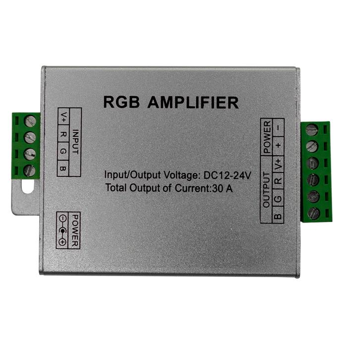 RGB LED Signal Verstärker Power Amplifier 360W 12V / 720W 24V - 30A