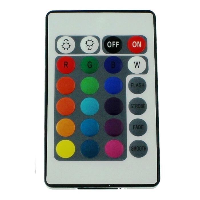 Mini RGB LED 24Key Controller 12V 72W für Farbwechsel Streifen 4-Pin Plug + Play