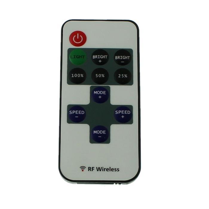 Mini LED RF Controller + 10Key Fernbedienung 144W 12...24V 6A offene Enden