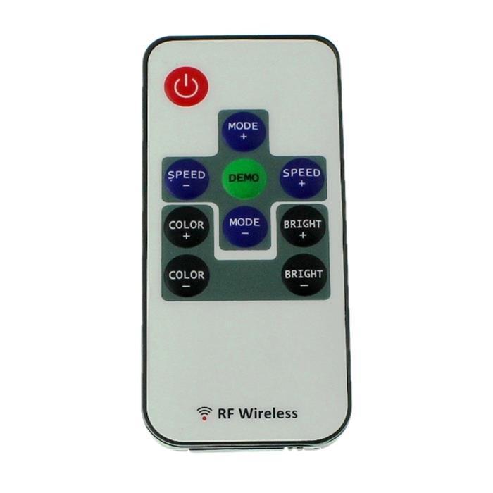 Mini RGB LED RF Controller + 10Key Fernbedienung 72W 12V / 144W 24V - 6A