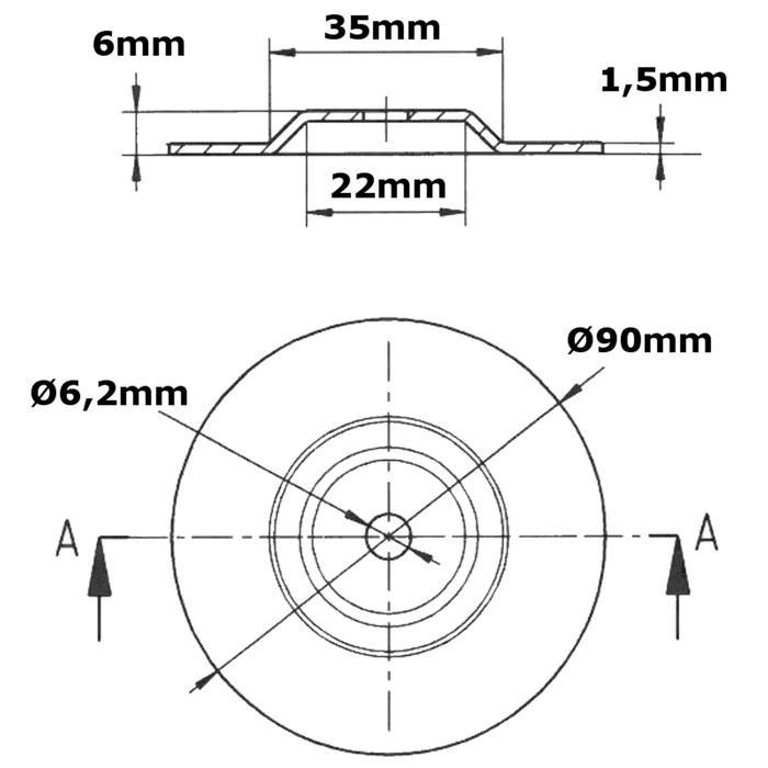 Ringkerntrafo Montageset 90mm - Montagezubehör, Befestigung, Zubehör