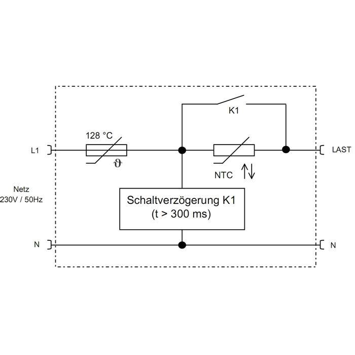 Einschaltstrombegrenzer 230V 16A für Transformatoren, Netzteile, LED...