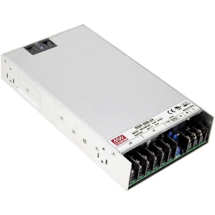 Schaltnetzteil / Netzteil 500W 48V 10,5A ; MeanWell, RSP-500-48