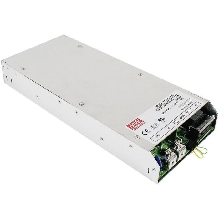 Schaltnetzteil / Netzteil 720W 12V 60A ; MeanWell, RSP-1000-12