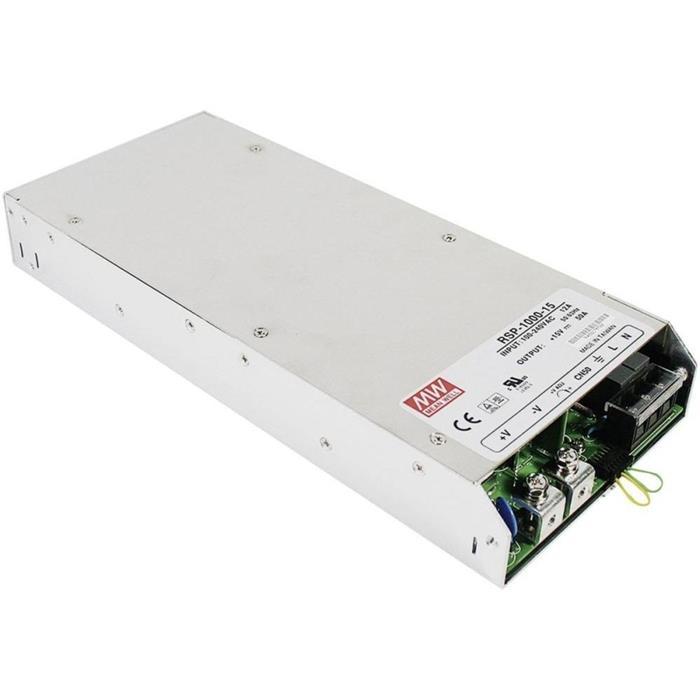 Schaltnetzteil / Netzteil 750W 15V 50A ; MeanWell, RSP-1000-15