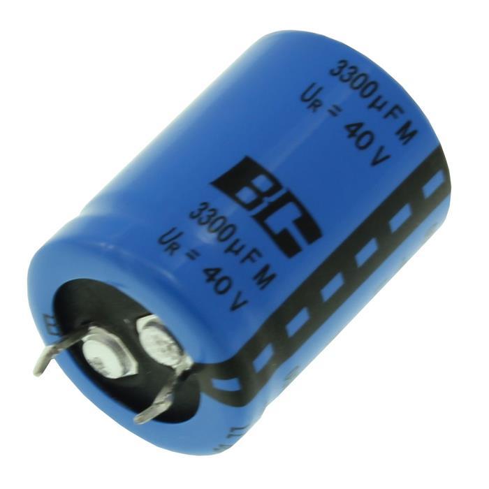 Snap-In Elko Kondensator 3300µF 40V 85°C ; 222205657332 ; 3300uF