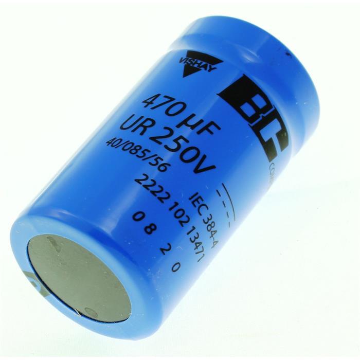 Schraub-Elko Kondensator 470µF 250V 85°C ; 222210213471 ; 470uF