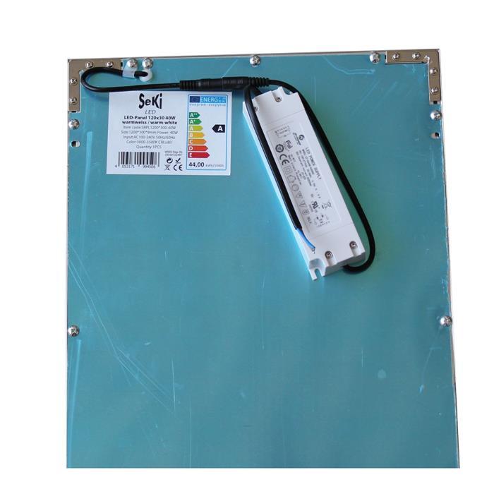 LED-Panel Ultraslim 120x30cm 40W - 3250lm - Deckenlampe ; Neutral Weiß 4500K