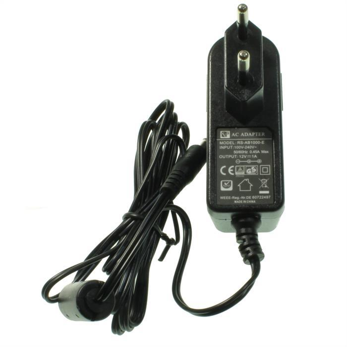 Steckernetzteil 12W 12V 1A ; EU-Plug 5,5/2,1mm ; Schaltnetzteil