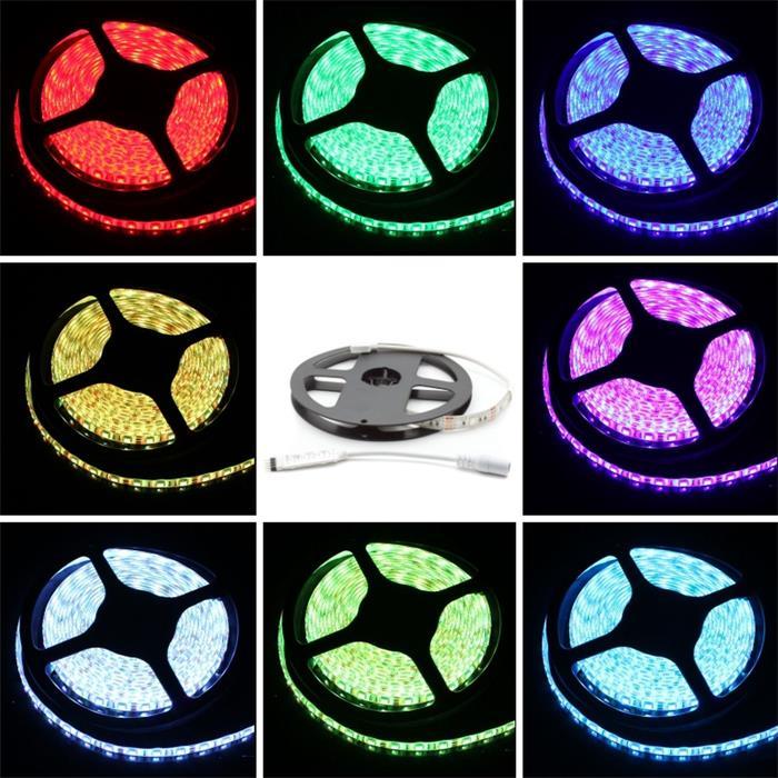 RGB LED Streifen Band Leiste 30cm ; 5V IP65 9LEDs 5050 ; + Controller