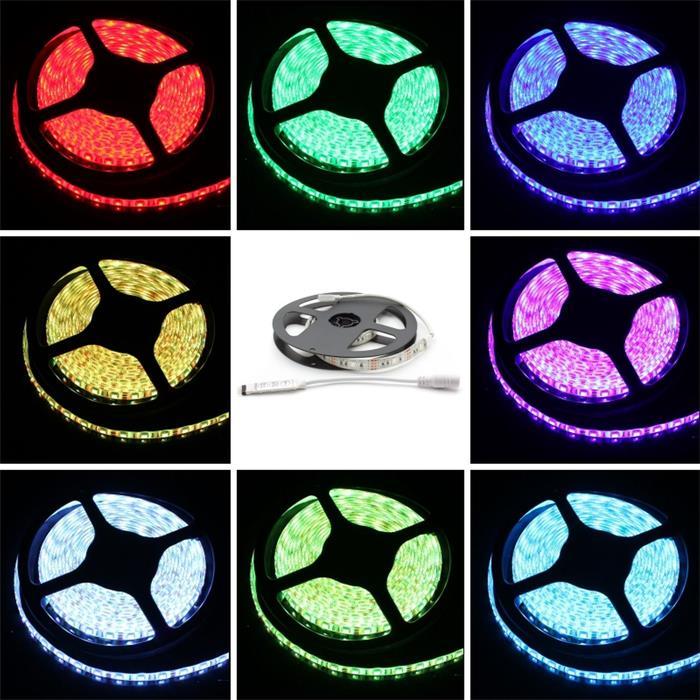 0,5m (50cm) RGB LED Streifen Band Leiste + Steuergerät 5V IP65 15LEDs 30LED/m SMD5050