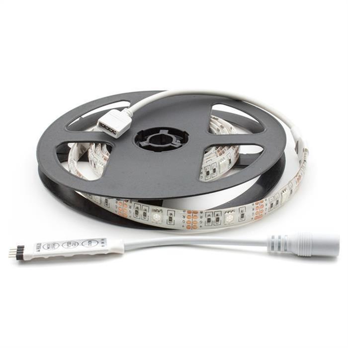 RGB LED Streifen Band Leiste 100cm ; 5V IP65 30LEDs 5050 ; + Controller