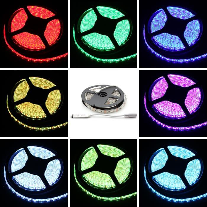 RGB LED Streifen Band Leiste 200cm ; 5V IP65 60LEDs 5050 ; + Controller