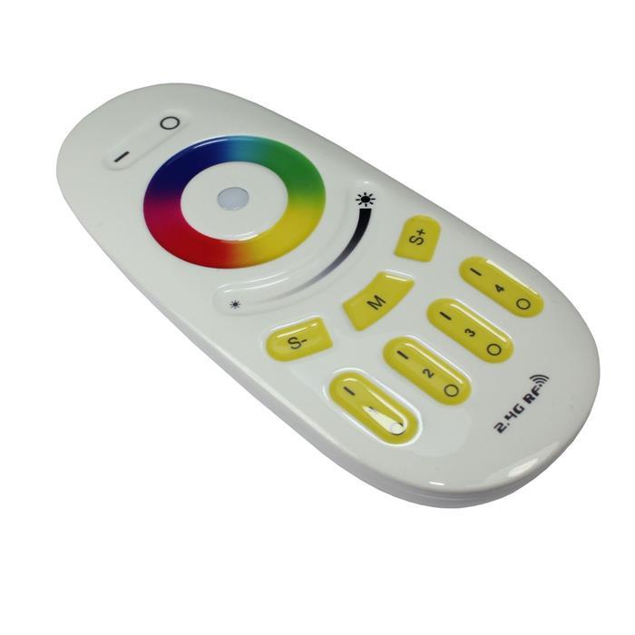 RGBW RGB+W 2,4GHz RF Touch 4-Zone Fernbedienung Weiss für MiLight Produkte