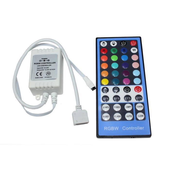 RGBW LED 40Key Controller 12...24V 192W für Farbwechsel Streifen 5-Pin