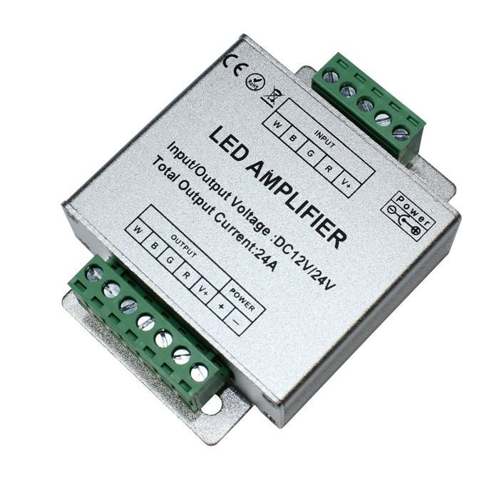 RGBW LED Signalverstärker 12...24V 576W für Farbwechsel Streifen 5-Pin