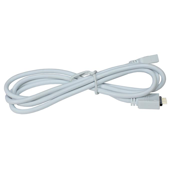 1m RGBW LED Verlängerungskabel Steckverbinder 5 Pin Buchse + 5 Pin Stecker 16x6mm Weiß