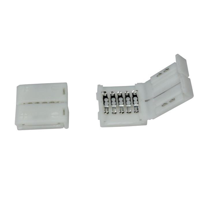Verbinder / Connector für RGBW RGB+W 12mm LED-Streifen ; 1 Clip