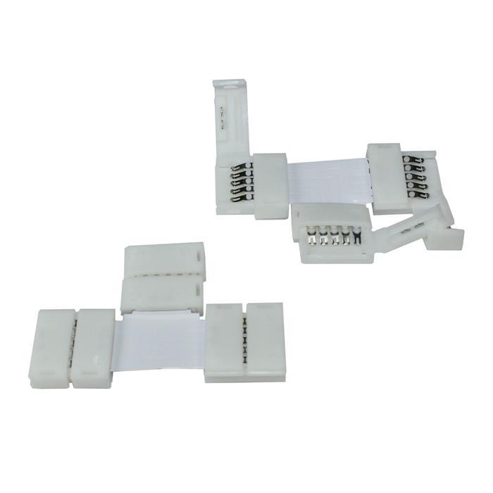 Verbinder / Connector für RGBW RGB+W 12mm LED-Streifen ; T Profil ; T Verbinder