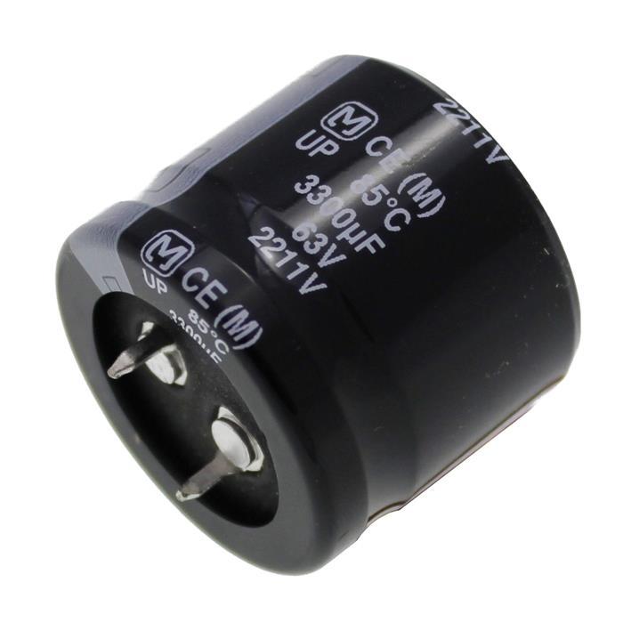 Snap-In Elko Kondensator 3300µF 63V 85°C ; ECEC1JP332DA ; 3300uF