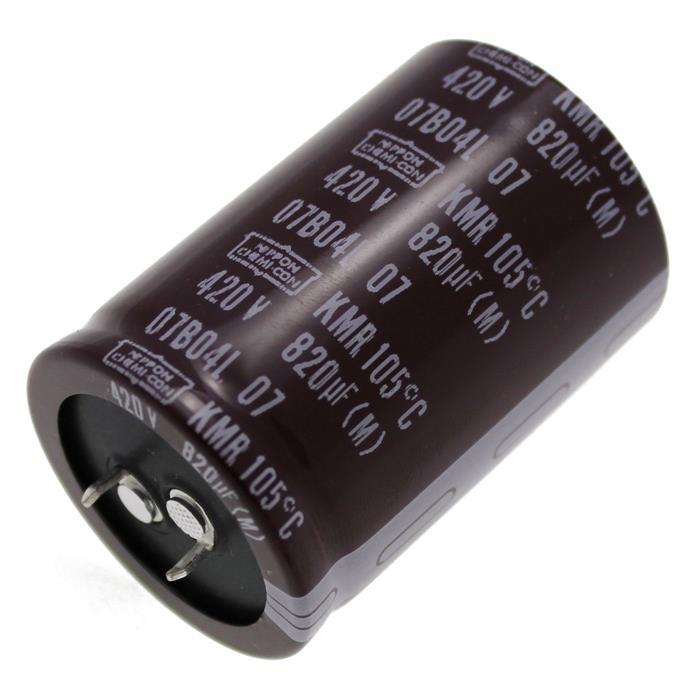 Snap-In Elko Kondensator Radial 820µF 420V 105°C EKMR421VSN821MA50S d35x50mm 820uF