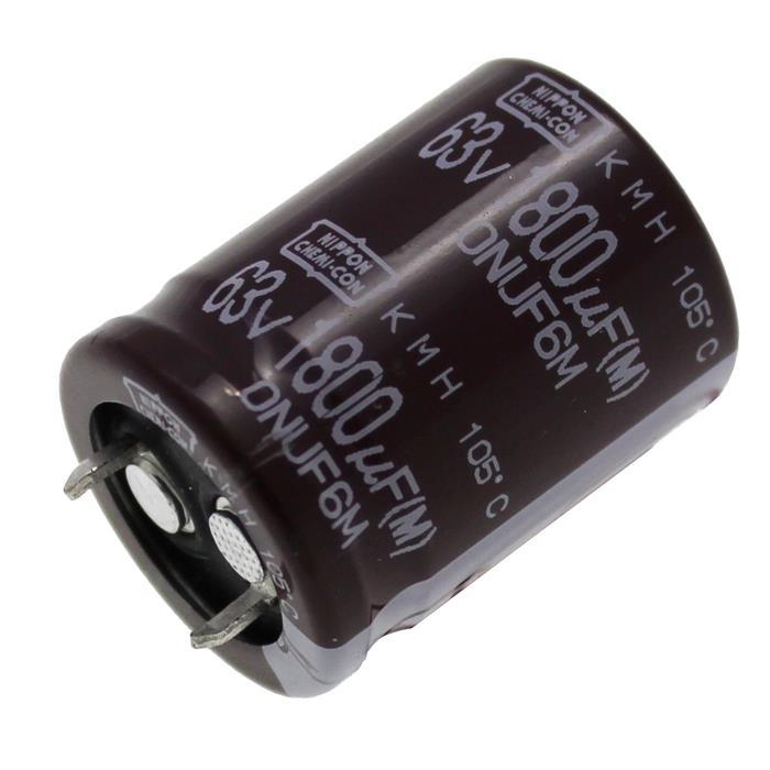 Snap-In Elko Kondensator 1800µF 63V 105°C ; KMH63VSSN1800ME0 ; 1800uF